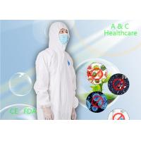 Buy cheap Anti Static Disposable Protective Coverall Waterproof For Asbestos Stripping​ from wholesalers