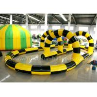 Buy cheap Giant Steady PVC Tarpaulin Inflatable Zorb Ball Track For Interactive Games from wholesalers
