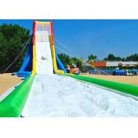 Buy cheap Waterproof 0.55 Mm PVC Large Inflatable Water Slides With Single Lane For Event from wholesalers