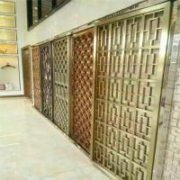 Buy cheap Interior Design stainless steel partition wall laser cut screen with brushed color for luxury architectural projects from wholesalers