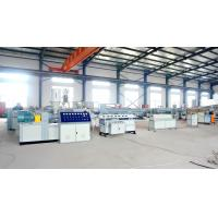 Buy cheap 20m/min corrugated pipe extrusion line PP PE PVC single wall corrugated pipe extrusion line from wholesalers