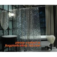 Buy cheap Shower Curtain 180X180 cm Waterproof Peva Material incl. 12 oval Shower Rings, decorative Dobby printing shower curtain from wholesalers
