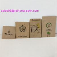 Buy cheap Smell Proof Mylar Customized Paper Bags Coffee Powder Sachet / Hair Cream Packaging from wholesalers