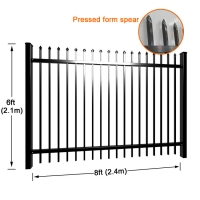 Buy cheap Welding Vertical Rails Pvc Coated Steel Picket Fence from wholesalers