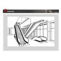Buy cheap SN - ES - D045 Elevator Escalator With Round Handrail Inlet Cap And Clearly Contrasted Floor Plate from wholesalers