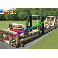 Buy cheap PVC Tarpaulin Inflatables Obstacle Course Military Boot Camp Challenge from wholesalers