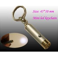 Buy cheap OEM metal mini size led rechargeable flashlights keychain torch from wholesalers