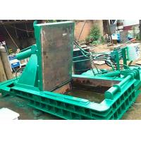 Buy cheap 125t dual drive hydraulic pressing scrap metal steel baling PLC control automatic baler from wholesalers