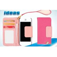 Buy cheap Magnetic Apple iPhone Leather Cases , Wallet Pink iPhone5 Wallet case from wholesalers