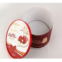 Decorative Red And White Round Cardboard Packaging Boxes Birthday Cake Box