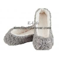 Buy cheap Cozzy ballerina slippers/warm ladies ballet slippers/Gray ballerina slippers from wholesalers