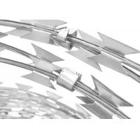 Buy cheap SS304 Razor Blade Barbed Wire For Military Sites Governments from wholesalers