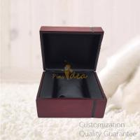 Buy cheap Custom Promotion Gifts Cheap Affordable Wooden Watch Display Storage Gift Box Case, Blank Leather Inner, Small Order from wholesalers