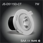 Buy cheap High quality Al6063 made chimney shape heat sink 7W led eyeball cob downlight from wholesalers