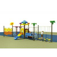 Buy cheap Colorful Childrens Single Swing , Baby Swing And Slide Set Outdoor Slide Playground Equipment from wholesalers