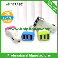 Buy cheap Wholesale 3 USB Port DC 5V 1A-2.1A Auto Mobile Phone Car Charger for iPhone iPad Tablet PC from wholesalers