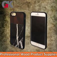 Buy cheap Black Marble + Walnut + TPU Phone Case For Iphone 5 from wholesalers