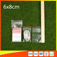 Buy cheap Polythene Clear Ziplock Bags Self Press Bags Grip Seal Bag With Red Lines from wholesalers