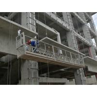 Buy cheap ZLP630 / ZLP800 high rise building window cleaning aluminium suspended platform with LTD63 hoist motor from wholesalers