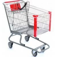 Buy cheap Unfolding Steel Supermarket Shopping Carts, small grocery shopping trolleys 4 wheels from wholesalers