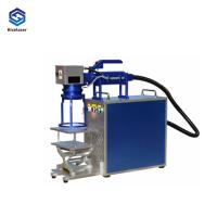 China New Condition Fiber Laser Marking Machine Air Cooling 110*110mm Laser Power on sale