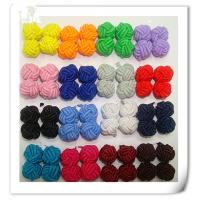 Buy cheap Silk knot cufflink with single color from wholesalers