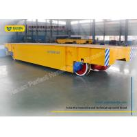 Buy cheap Logistics Chemical Plant Motorized Transfer Trolley 80 Ton With Steel Plate from wholesalers