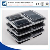 Buy cheap Microwavable Takeaway Disposable Plastic 3 Compartment Food Containers With Lids from wholesalers