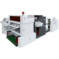 Buy cheap 320times/min Paper Die Punching Machine , Flat Bed Die Punching Machine With Flexo Printer from wholesalers