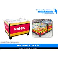 Buy cheap Steel Promotional Display Counter Storage Containers For Supermarket Products Promotion from wholesalers