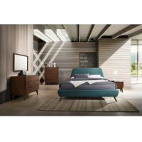 Buy cheap Fabric Upholstered Bed Modern Bedroom Furniture Sets With Wooden Legs from wholesalers