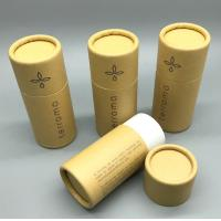 Buy cheap eco-friendly custom logo printed kraft paper cylinder tube box roll edge type packaging box from wholesalers