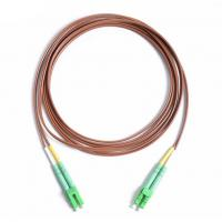 Buy cheap Patch Cord Fiber Optic Jumper LC/APC-LC/APC DX 2.0mm 2M LSZH Brown Cable from wholesalers