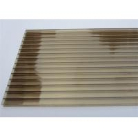 Buy cheap Color Bronze 6mm / 8mm Double Wall Polycarbonate Greenhouse Panels Multi Purpose from wholesalers