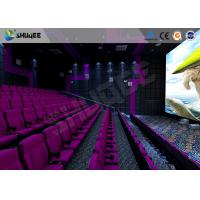 Quality 3D Glasses / 3D Film Movie Theater Seats Environment Effect Vibration Cinema for sale