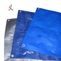 Buy cheap Blue silver PE tarpaulin with polyethylene insulated plastic fabric coloured tarp roll for truck cover from wholesalers