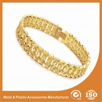 Buy cheap Fashion Jewelry OEM Men Wide Metal Chain Bracelet 18k Gold Chain Radiation Protection from wholesalers