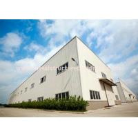 Buy cheap Anti Rust Prefabricated Steel Warehouse Light Structure Wind Resistance from wholesalers
