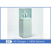 Buy cheap OEM Square White Glass Jewelry Display Cases / Lockable Jewellery Display Cabinet product