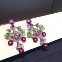 Buy cheap charming 18K Gold Diamond Earrings , Bvlgari Divas Dream Earrings With Colored Stones product
