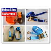 Buy cheap PE Webbing Ratchet Strap Parts Cargo Lashing Straps With Hooks 50mm from wholesalers