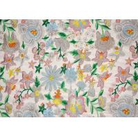 Buy cheap Polyester Multi Colored Dress Lace Fabric With Heavy Embroidery By OEKO TEX 100 product