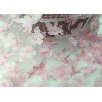 Buy cheap Tulle Tape Embroidery Mesh Lace Fabric 3d Flower 49-50 Width For Wedding from wholesalers