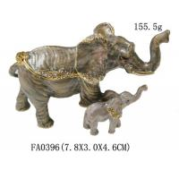 Buy cheap Crystal Metal Pewter Alloy Elephant Trinket Box from wholesalers