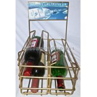 Buy cheap Liquor Shop Gin Commercial Countertop Wire Wine Rack Display Finished Golden Color from wholesalers