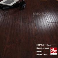 Buy cheap 12mm HDF Laminate Flooring Handscraped Surface from wholesalers