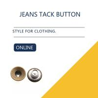 Buy cheap Antique Brass Custom / Inlaid Jeans Tack Shank Button /  Leather Clothing Bulk Trims product