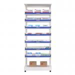 Buy cheap Medical Show Metal Sheet Storage Rack , Hospital Pharmacy Drugstore / Grocery Storage Rack from wholesalers