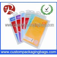 Buy cheap Luxuriant Socks Packing Plastic Hanger Bags With Colorfull Printing from wholesalers