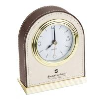 Buy cheap Hotel guest room alarm clock in pu leather without light from wholesalers